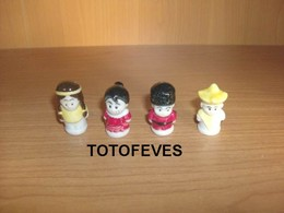 SERIE COMPLETE ENFANTS DU MONDE DE 4 FEVES PERSO N° 344 - Other