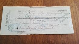 MANDAT A ORDRE 1875 COMPTOIR QUINCAILLERIE REUNIES DE L'EST - Lettres De Change