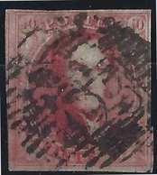 BELGIQUE N°5, 40c Carmin Oblitéré GC 23 TTB - 1849-1850 Medallions (3/5)