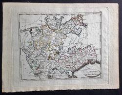Carte Géographique Ancienne Allemagne Au Nord Du Mein, Carte Gravée, Non Imprimée - Carte Geographique