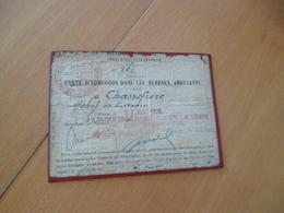 Postes Carte D'admission Dans Les Bureaux Ambulants 1926 Chassefière - Documents Historiques