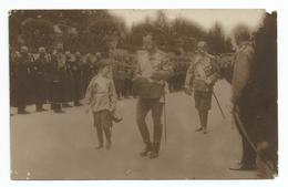 Carte-photo - Tsar Nicolas II De Russie Et Son Fils - Königshäuser