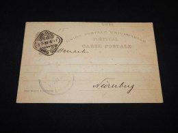 Portugal 1898 Lisboa Stationery Card__(L-21589) - Interi Postali