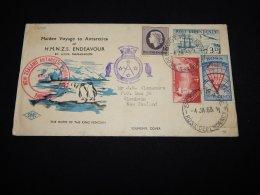 Ross Dependency 1963 Maiden Voyage To Antarctica Cover__(L-22010) - Ross Dependency (Nieuw-Zeeland)