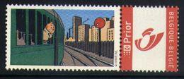 E11 - Belgium - Personalized Stamp - Tintin On Train - Railways Trains Comics - Eisenbahnen