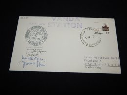 Ross Dependency 1973 Vanda Station Signature Cover__(L-22294) - Lettres & Documents