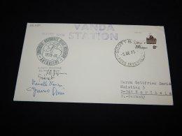 Ross Dependency 1973 Vanda Station Signature Cover__(L-22294) - Briefe U. Dokumente