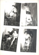 Photo 9 X 13 Cm Homme Nu Masculin Gay 4 Photos - Vintage Men < 1945