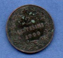 Italie -  2 Centesimi 1900 R     -  Km # 30 -- état  TB - 1861-1946 : Royaume