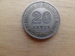 Malaya  20  Cents  1950  Km 9 - Malaysie