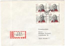 GERMANIA - GERMANY - Deutschland - ALLEMAGNE - 1981 - 300. Geburtstag Von Georg Philipp Telemann - FDC - Bonn - Einschre - [7] Repubblica Federale