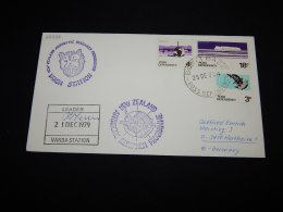 Ross Dependency 1979 Leader Vanda Station Signature Cover__(L-22338) - Briefe U. Dokumente