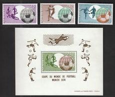 Niger / Football, Soccer / World Cup Germany 1974 / Michel 419-421 + Bl 10 - Coppa Del Mondo