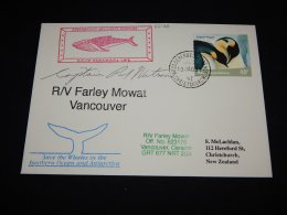Ross Dependency 2003 R/V Farley Mowat Vancouver Cover__(L-22126) - Ross Dependency (New Zealand)