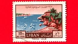 LIBANO - Usato - 1967 - Anno Internazionale Del Turismo - Tabarja - 10 - Libano