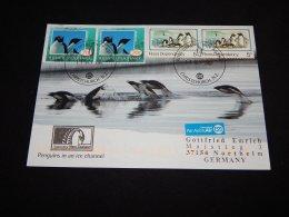 Ross Dependency 2007 Penguins In An Ice Channel Card__(L-22092) - Ross Dependency (Nieuw-Zeeland)