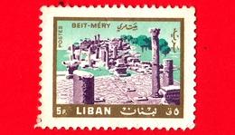 LIBANO - Usato - 1966 - Paesaggi - Beit Mery - 5 - Libano