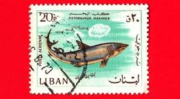LIBANO - Libanon - 1968 - Pesci - Fish - Cetorhinus Maximus - 20 - Libano
