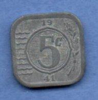 Pays - Bas  -- 5 Cents 1941  -- Km # 172  -  état  TB+ - [ 3] 1815-… : Royaume Des Pays-Bas
