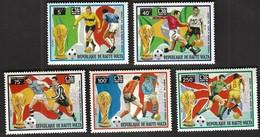 Upper Volta / Football, Soccer / World Cup Germany 1974 / Michel 498-502 - Fußball-Weltmeisterschaft