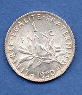France  -  1 Franc 1920  -  état  SPL - France