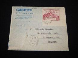 St.Vincent 1949 Aerogramme To UK__(L-21688) - St.Vincent (...-1979)
