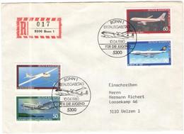 GERMANIA - GERMANY - Deutschland - ALLEMAGNE - 1980 - Jugendmarken - FDC - Bonn - Einschreiben - Registered - FDC: Briefe