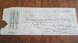 MANDAT A ORDRE 1870 MAISON DELESPAUL AINE FILS RETORS EN TOUS GENRES A LILLE - Lettres De Change
