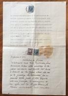 SARZANA  VARIE MARCHE DA BOLLO SU DOCUMENTO CON TIMBRI E FIRME AUTOGRAFE DEL 16/6/1944 - Manoscritti