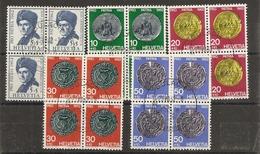 Schweiz, 1962 Pro Patria Satz Viererblock  O  Bülach 23.8.1962, Siehe Scans! - Usati
