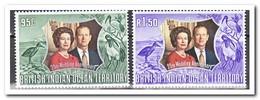 BIOT 1972, Postfris MNH, Silver Wedding Of The English Royal Couple - Postzegels