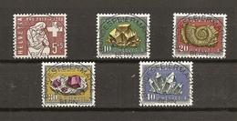 Schweiz, 1958 Pro Patria Satz, ET Vollstempel,  Bundesfeiermarken Bern, Siehe Scans! - Used Stamps