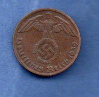 Allemagne  -  1 Pfennig 1939 E  -  Km# 89  -  état  TTB - 1 Reichspfennig