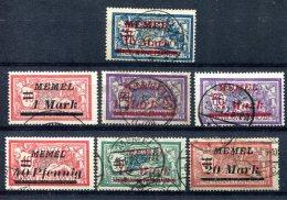 Memel                   Divers  Oblitérés - Memel (1920-1924)