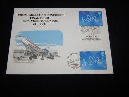 UK 2003 New York-London Concorde Cover__(L-20454) - Concorde