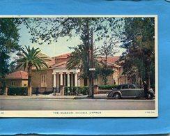 CHYPRE-Nicosia-belle Auto Devant Muséum-a Voyagé En1961-Taxe 0.20 Frs-stamp N°174-édition Mouritos - Cipro
