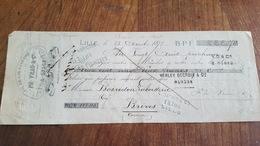 MANDAT A ORDRE 1875   FIL DE LIN  A COUDRE PH VRAU A LILLE - Lettres De Change
