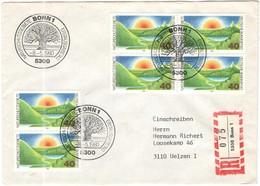 GERMANIA - GERMANY - Deutschland - ALLEMAGNE - 1980 - Deutsche Naturschutzgebiete - FDC - Bonn - Einschreiben - Register - [7] Repubblica Federale