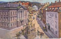 BADEN - Hauptplatz, Karte Gel.1918 - Baden Bei Wien