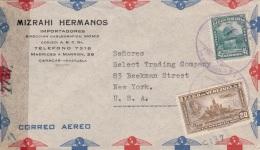 VENEZUELA 1948? - 20 + 45 Centavos Auf Zensurierten Firmen FP-Brief Gel.v.Caracas > NewYork - Venezuela