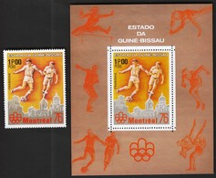 Guinea Bissau / Football, Soccer / Olympic Games Montreal 1976 / Michel 411+ Bl 43 A - Sommer 1976: Montreal