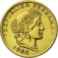 Monnaie, Pérou, 20 Centavos, 1964, Lima, SUP, Laiton, KM:221.2b - Pérou