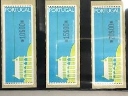 PORTUGAL 1991\1992 ESPIGUEIRO ATM LABELS SET OF 3 WITH DOTS - Automatenmarken (ATM/Frama)