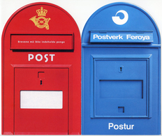 FAROE ISLANDS - Postverk Føroya (Faroe Post) 40 Years - Letter Boxes / Boites Postales / Buzones / Briefkasten - Correos & Carteros