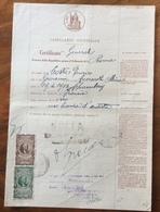 ROMA DOCUMENTO IN CARTA BOLLATA E MARCHE DA BOLLO TIMBRI E FIRME AUTOGRAFE DEL  6/4/1948 - Manoscritti