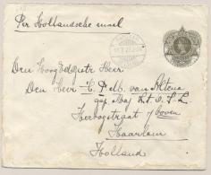 Nederlands Indië - 1923 - 20 Cent Wilhelmina, Envelop G38 Van LB RANGKAS BETOENG Naar Haarlem / Nederland - Nederlands-Indië