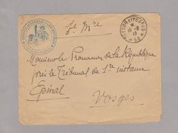 Devant D'enceloppe 1916 ??? - Cachet Trésor Et Postes 58 Et Cachet Conseil De Guerre De La 63 è Division - Marcophilie (Lettres)