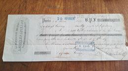 MANDAT A ORDRE 1867 QUINCAILLERIE EN GROS GILLET & PILLOT A PARIS - Lettres De Change