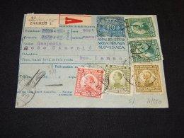 Yugoslavia 1921 Zagreb 1 Parcel Card__(L-23867) - 1919-1929 Royaume Des Serbes, Croates & Slovènes