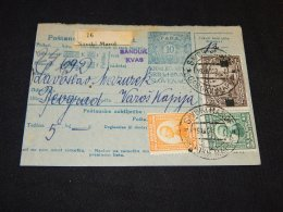 Yugoslavia 1922 Savski Maroi Parcel Card__(L-23868) - 1919-1929 Royaume Des Serbes, Croates & Slovènes
